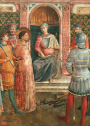 trial of Saint Lawrence, as envisioned by Fra Angelico.
