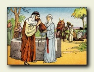 Moses at the well of Median