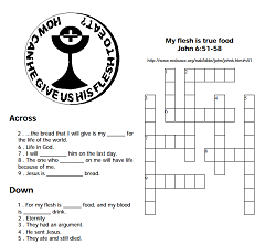 John 6, 51-58 crossword puzzle