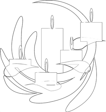 Advent candles to colour